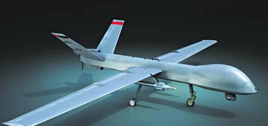 2007年10月完成首飞,2015年1月翼龙无人机首次编队飞行.飞机长度9.