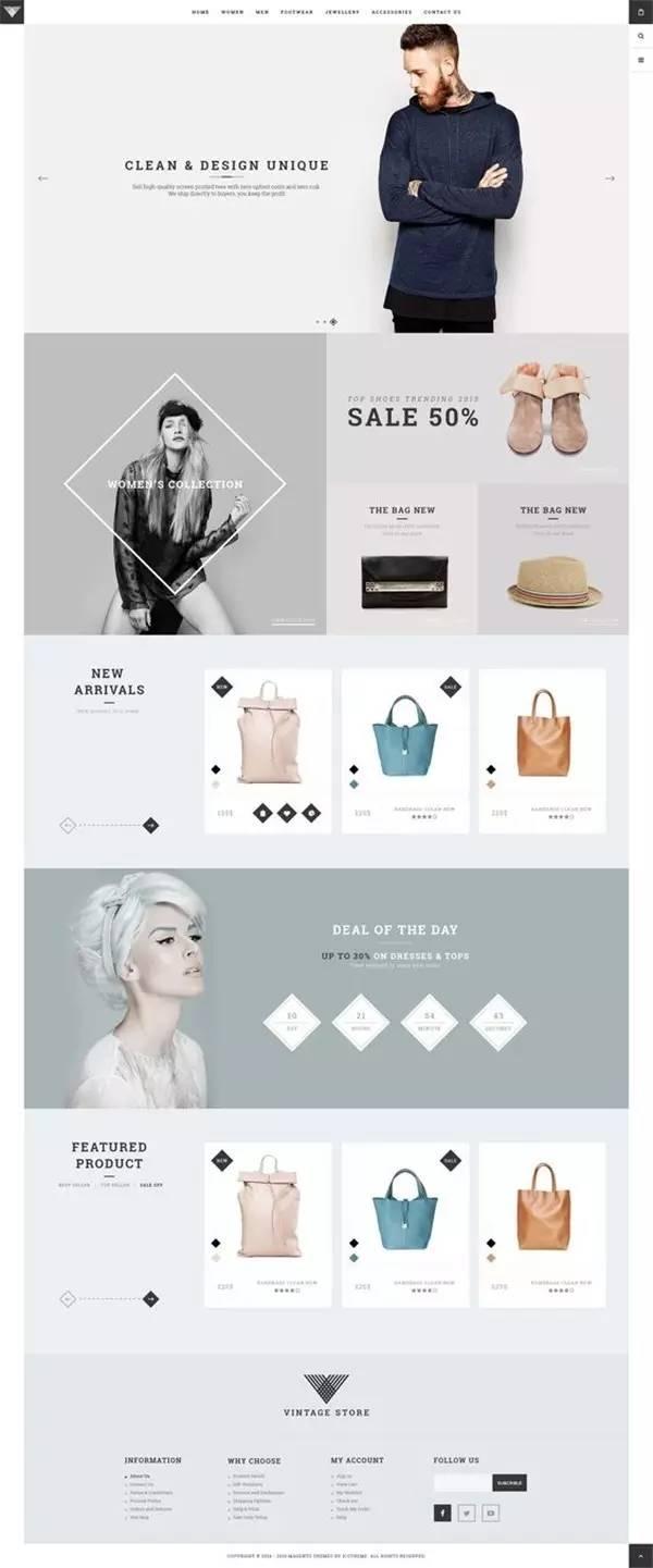 文章频道 - 20 款高逼格服装页面排版设计,让受众从此图片