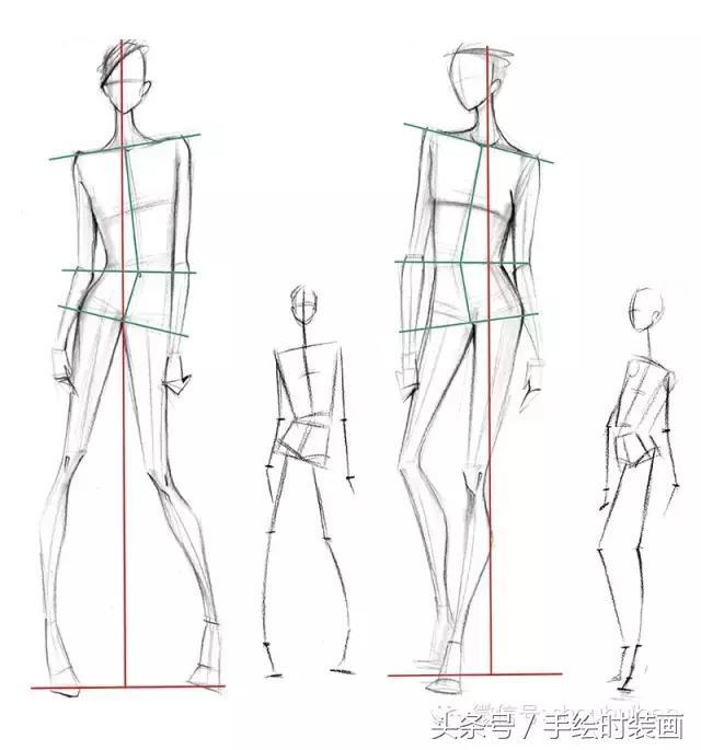 看完这篇你就懂时装画中人体该怎么画了