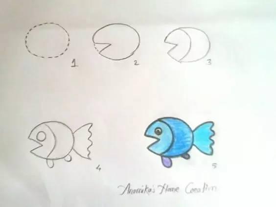 儿童简笔画:圆形三角形长方形,几何图形画动物,简单到不敢信了 幼儿