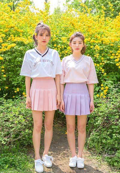 这样穿出街少女心十足,韩版闺蜜装甜爆这个夏季