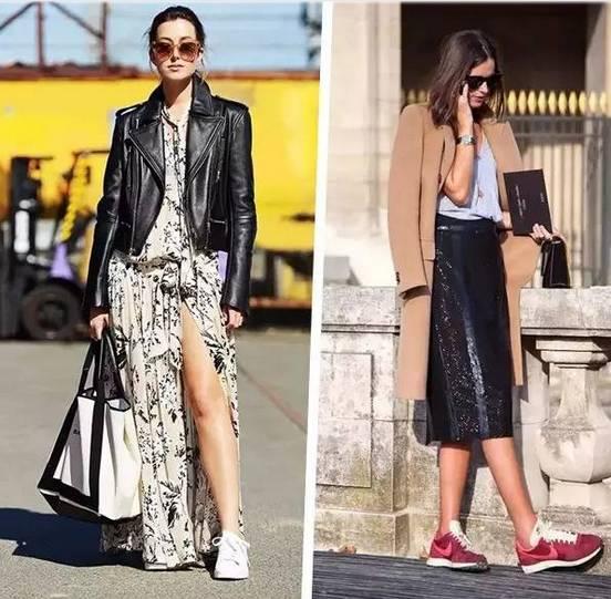 都说会穿搭的女人最时尚,连衣裙+运动鞋你穿过吗?