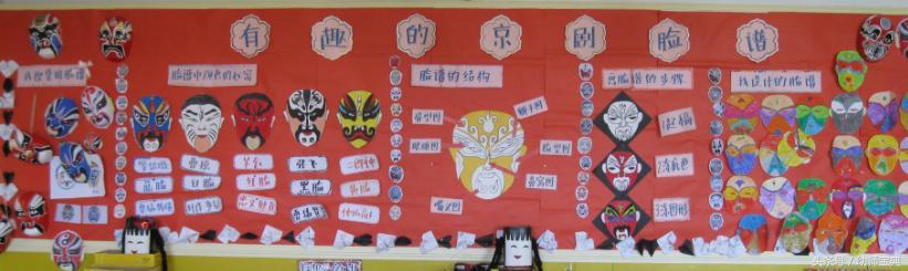 幼儿园中国风墙饰|集京剧、脸谱、剪纸的主题墙